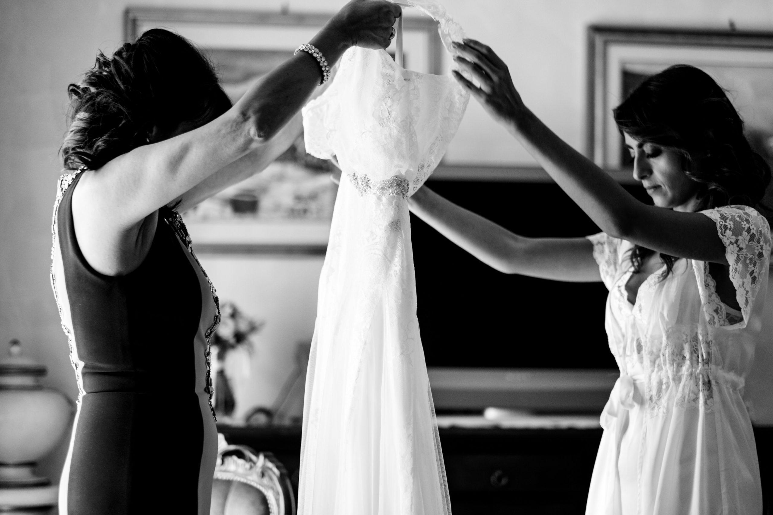 Bride Dress Before Wearing It