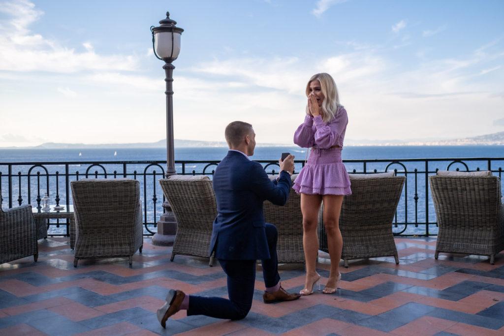 wedding proposal in sorrento