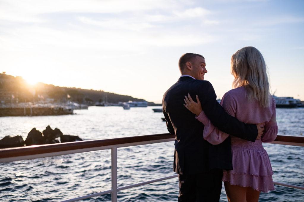 wedding proposal shooting in front of vesuvius